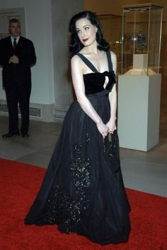 Dita Von Teese style file: Dita Von Teese attends the Metropolitan Museum of Art's annual Costume Institute gala in 2005.