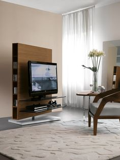 Media Centre TV Stand by Porada. Looks is definitely deceiving with the Media Centre TV stand that is constructed with several different pieces Tv Furniture, European Furniture, Furniture Showroom, Furniture Stores, Contemporary Tv Stands, Swivel Tv Stand, Cool Tv Stands, Couch Set, Living Room Tv