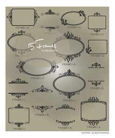 Vinyl Decals~  Decorative Frames and Borders