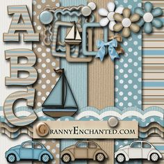 GRANNY ENCHANTED'S BLOG: Beach Brown Kit Freebies Directory