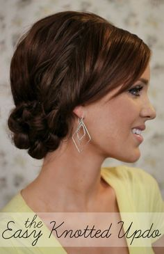 Summers End Hair Week: The Easy Knotted Updo