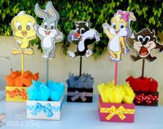 Backdrop Amp Cake Dessert Candy Table Baby Looney Tunes