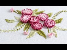 Grand Sewing Embroidery Designs At Home Ideas. Beauteous Finished Sewing Embroidery Designs At Home Ideas. Embroidery Flowers Pattern, Embroidery Patterns Free, Learn Embroidery, Embroidery For Beginners, Silk Ribbon Embroidery, Crewel Embroidery, Hand Embroidery Designs, Flower Patterns, Embroidery Thread