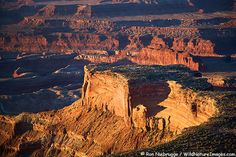 Aerial view of Dead Horse Point State Park and Island in the Sky District, Canyonlands National Park near Moab, Utah