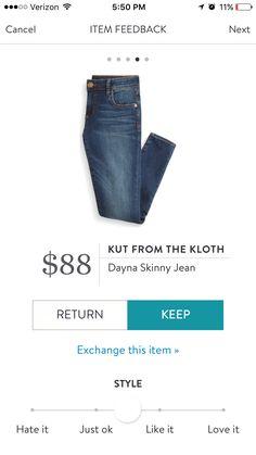 Stitch Fix #3: Kut from the Kloth dayna skinny jeans