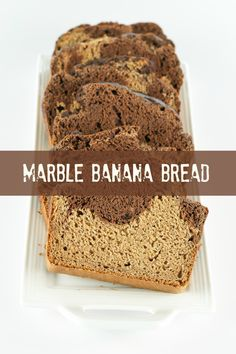 Vegan Sugar-free Marble Banana Bread from An Unrefined Vegan