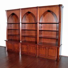 Large Solid Mahogany Traditional Dome Style Bookcase Cabinet  for the library