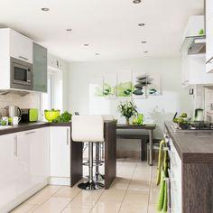 Stylish, modern and streamlined kitchen