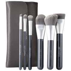 Shop SEPHORA COLLECTION's Deluxe Charcoal Antibacterial Brush Set at Sephora. This six-piece set is infused with charcoal powder to keep them fresher.