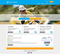 Web page design for Project Match by artsemafey