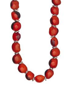 Look at this Red & Black Classic Large Bead Necklace on #zulily today!