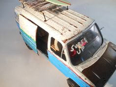 Ford Surfing van 1/24 scale model car in blue and by classicwrecks, $85.00