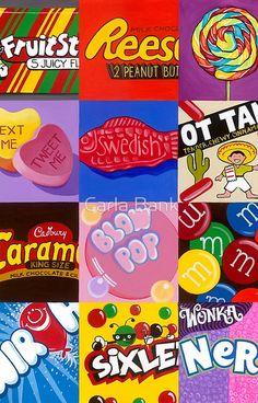'Candy Wrapper ' iPhone Case/Skin by Carla Bank Middle School Art Projects, 8th Grade Art, Pop Art Wallpaper, Atelier D Art, Candy Art, Galaxy Art, Art Lesson Plans, Art Classroom, Art Plastique