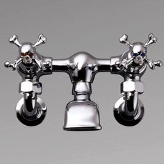 Skull(+_+)Faucet ~ Perfect For A Gothic Bathroom