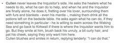 Inquisitor's illness (Cullen) - http://holyshitdragonage.tumblr.com/post/113642824766/love-interests-inquisitors-illness