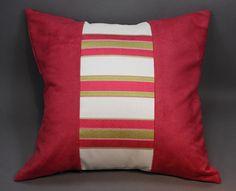 Dark Pink Decorative Pillow 18 by LenkArt on Etsy