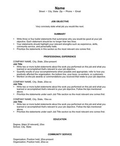 Resumes: From Good to Great. Great advice for college or university students.