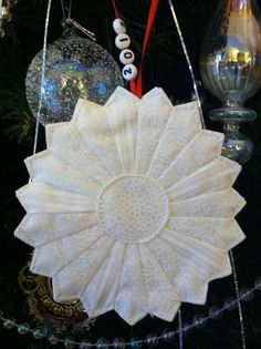 fabric christmas ornament by FunArtQuilts on Etsy, $15.95