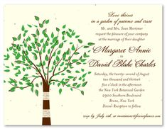 Tree Themed Wedding Cards ~ Green Tree (seeded paper) - It looks just like the bark from the tree! Our Birch Tree wedding suite transforms your invitations into a beautiful hand-drawn piece of the lovely green tree in an assortment of precious colors. Tree Themed Wedding, Birch Tree Wedding, Woodsy Wedding, Dream Wedding, Wedding Stuff, Tree Wedding Invitations, Wedding Cards, Best Wedding Songs, Popular Tree