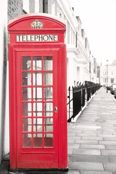 London Photography - Red Phone Booth, Kensington and Chelsea, Classic London, England Travel Photo, Urban Home Decor, Large Wall Art by GeorgiannaLane on Etsy https://www.etsy.com/listing/243159517/london-photography-red-phone-booth