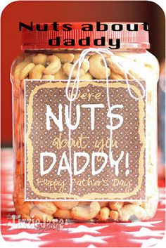 We're nuts about you, Daddy ... great father's day gift!