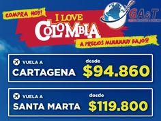Vive Colombia con Grupo Aviación & Turismo. www.grupoaviacionyturismo.com