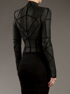 Gareth Pugh Geometric Panelled Jacket - - Farfetch.com