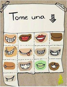 Coge una sonrisa para hoy...