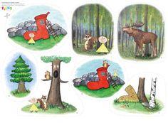 """Sagan """"Lille Lustig och skogens vänner"""" - lär barn om allas lika värde! Förmedlar god värdegrund om vänskap och utanförskap, men också om djur och natur. Preschool, Painting, Sustainability, Caterpillar, Funny, Painting Art, Paintings, Nursery Rhymes, Painted Canvas"""