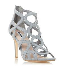 Dune Damen MAIDA Sandale mit hohem Absatz und Gitterdesign Grau - http://on-line-kaufen.de/dune/dune-damen-maida-sandale-mit-hohem-absatz-und-grau