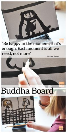 """Gift idea - """"Buddha Board"""" via imaginationsoup: If you and your kids want to practice mindfulness, you might like the Buddha Board. The Buddha Board is a board you paint with water and a thick calligraphy paintbrush. Because it's water, the image is thE"""