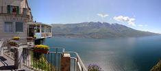 Seesicht vom 3 Sterne Hotel Miralago in Tremosine am Gardasee. Hotel mit Restaurant, Tennis und Pool
