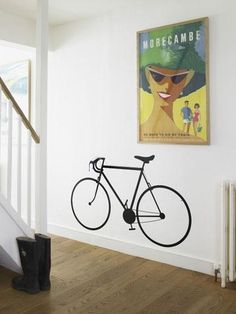 Racing bike wall sticker - vinyl - at mydeco.com - Shop for your home from Europe's best boutiques. This product is delivered by Red Candy
