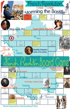 French Revolution Unit Study and Board Game - Homeschool GiveawaysFREE French Revolution Unit Study and Board Game .FREE French Revolution Unit Study and Board Game - Homeschool GiveawaysFREE French Revolution Unit Study and Board Game . World History Classroom, History Teachers, Teaching History, World History Lessons, Study History, Women's History, Storming The Bastille, Study French, Learn French
