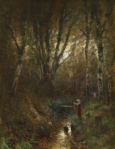 By the Brook, Laszlo von Mednyanszky Great Paintings, Global Art, Light And Shadow, Art Market, Art World, Impressionism, Country Roads, Landscape, Twitter