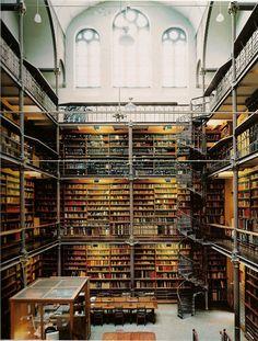 Rijks Müzesi Araştırma Kütüphanesi, Amsterdam, Hollanda  Kitap severlerin rüyalarını süsleyen 27 mekan - Radikalist Haberleri - Radikal