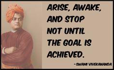 Swami Vivekananda quote on determination. Arise, Awake!