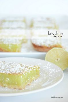 Whip up these Key Lime Bars for your family dessert tonight! Easy to make and delicious, they are sure to be a new family favorite from MichaelMakers The Idea Room