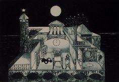 """"""" A lua da solidão"""" gravura de Estela Baptista Costa"""