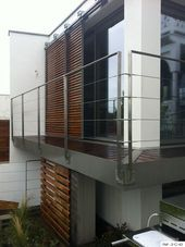 Manufacturer railing stainless steel for the outside, in Brittany, valves. - All About Balcony Deck Stair Railing, Staircase Handrail, Balcony Railing Design, Modern Staircase, Cable Railing, Railing Ideas, Exterior Handrail, Balustrade Balcon, Stainless Steel Handrail