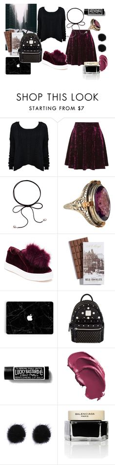 """Outfit #147"" by pinky66 ❤ liked on Polyvore featuring Alice + Olivia, Topshop, Sam Edelman, MCM and Balenciaga"