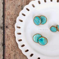DIY Faux Agate Polymer Clay Earrings pitterandglink.com