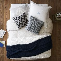 I love the Layered Bed Looks - Calm + Collected on westelm.com - this is def my set for my first home!