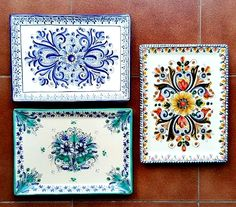 Spanish Ceramic Toledo Puerte del Arzobispo Cultural Patterns, Spanish Heritage, Latino Art, Spanish Art, Mexican Art, Hand Painted Ceramics, Clay Projects, Clay Art, Pattern Art