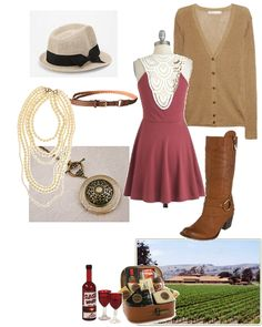 Sweet outfit for a winery tour!