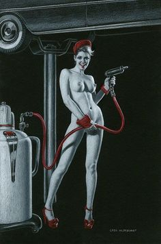 Black Board, pin up, Greg Hildebrandt - Google Search