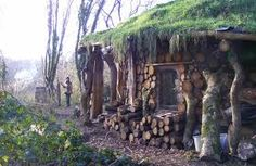 While cord wood roundhouses