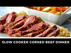 Slow Cooker Corned Beef Dinner - Weekend at the Cottage Cooking Corned Beef, Slow Cooker Corned Beef, Corned Beef Recipes, Slow Cooker Recipes, Crockpot Recipes, Quick Soup Recipes, Baked Bean Recipes, Fun Recipes