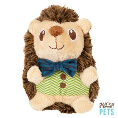 This cute critter is ready for playtime. Martha Stewart Pets® Plush Hedgehog Dog Toy - PetSmart $3.99 to $8.79