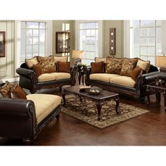 Furniture of America 'Nicolai' 2-piece Sofa Set | Overstock™ Shopping - Great Deals on Furniture of America Sofas & Loveseats